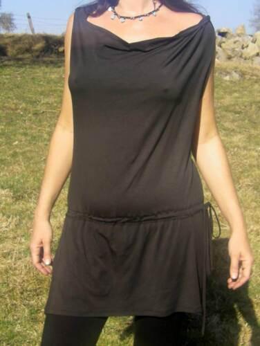 PsyTrance Clothing Baba Cool Hippie Fashion Robe Crista Noir