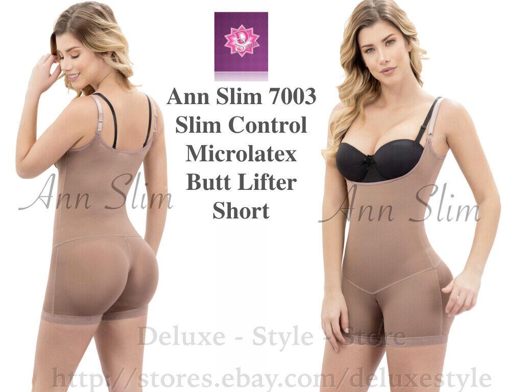 Ann Slim 7003 Slim Control Microlatex Butt Lifter Short. FAJA COLOMBIANA, ENFAJA