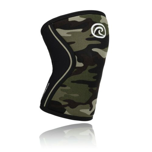 Rehband RX Line 7mm Camo Black Knee Cap CrossFit Fitness IWF IPF Approved