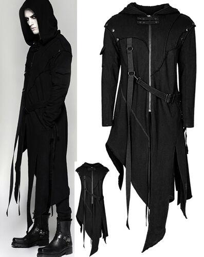 Veste hoodie transformable gothique punk asymétrique destroy sangles PunkRave