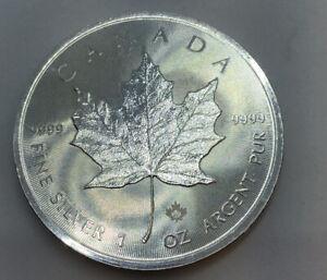 2015 1oz Silver Bullion Canada Maple Leaf Dollar Coin SKU-9999