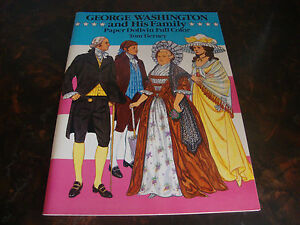George Washington & His Family---Paper Dolls---Dover---1989---Uncut---Tierney