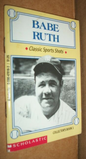 vintage booklet Babe Ruth Classic Sports Shots Collectors Book 1 1993 2nd PB VG