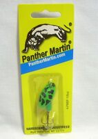 Panther Martin 1/8oz Bullfrog Green W/black Spots Spinner Fishing Lure