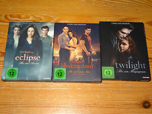 TWILIGHT-ECLIPSE-BREAKING-DAWN-amp-TWILIGHT-3-X-2-DVD-SET-039-S-FAN-EDITION