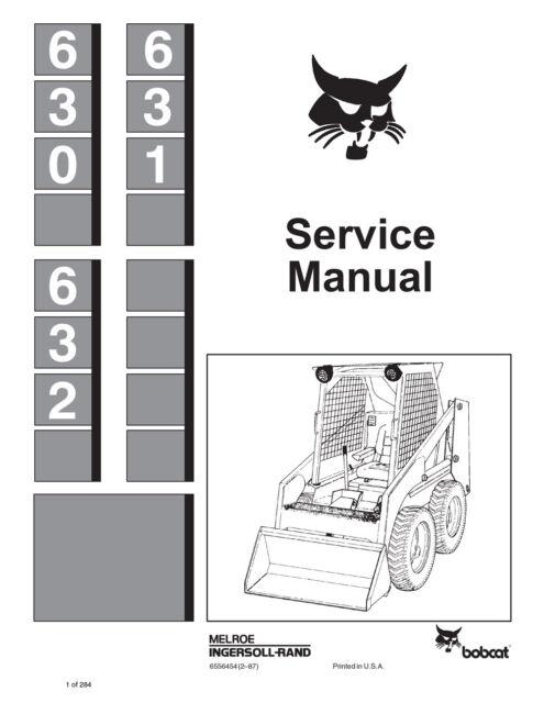 bobcat 630 631 632 skid steer service manual shop repair book part rh ebay com
