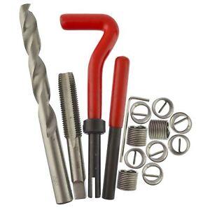 Montloxs 15 piezas M12 x 1,25 Kit de reparaci/ón de roscas Helicoil Compatible con roscas da/ñadas de 12 mm