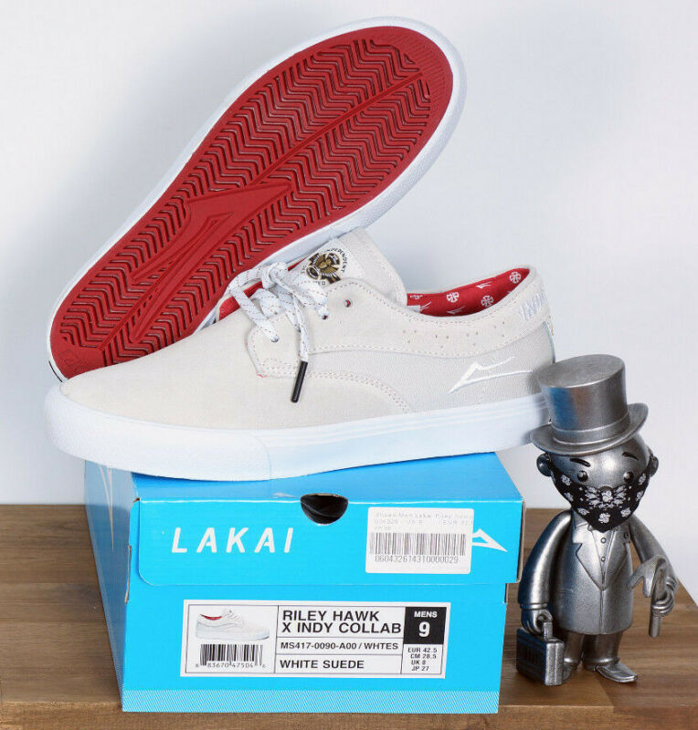 Lakai Footwear Skate Shoes Shoes Riley Hawk Independent White Suede 12/47