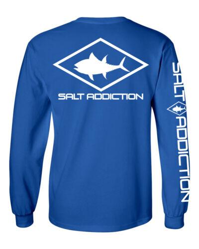 Salt Addiction long sleeve saltwater fishing t shirt Tuna life ocean flats reel