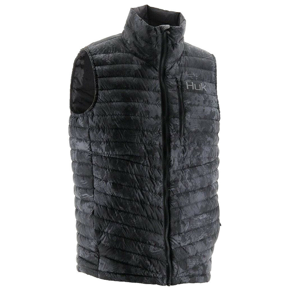 Huk Mens Dyad Down Camo  Vest, color  Subphantis Night Vision H4000030-075  save 50%-75%off