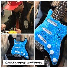 GFA Keaton Wesley & Drew * EMBLEM3 * Signed Electric Guitar PROOF AD1 COA