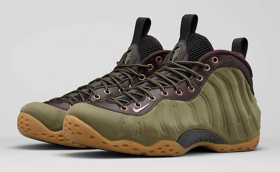 NIKE AIR FOAMPOSITE ONE OLIVE Size 14. 575420-200 jordan penny wheat suede ext