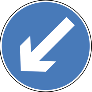 Road traffic cone signs Vat Registered signage signs to fit 750mm cones