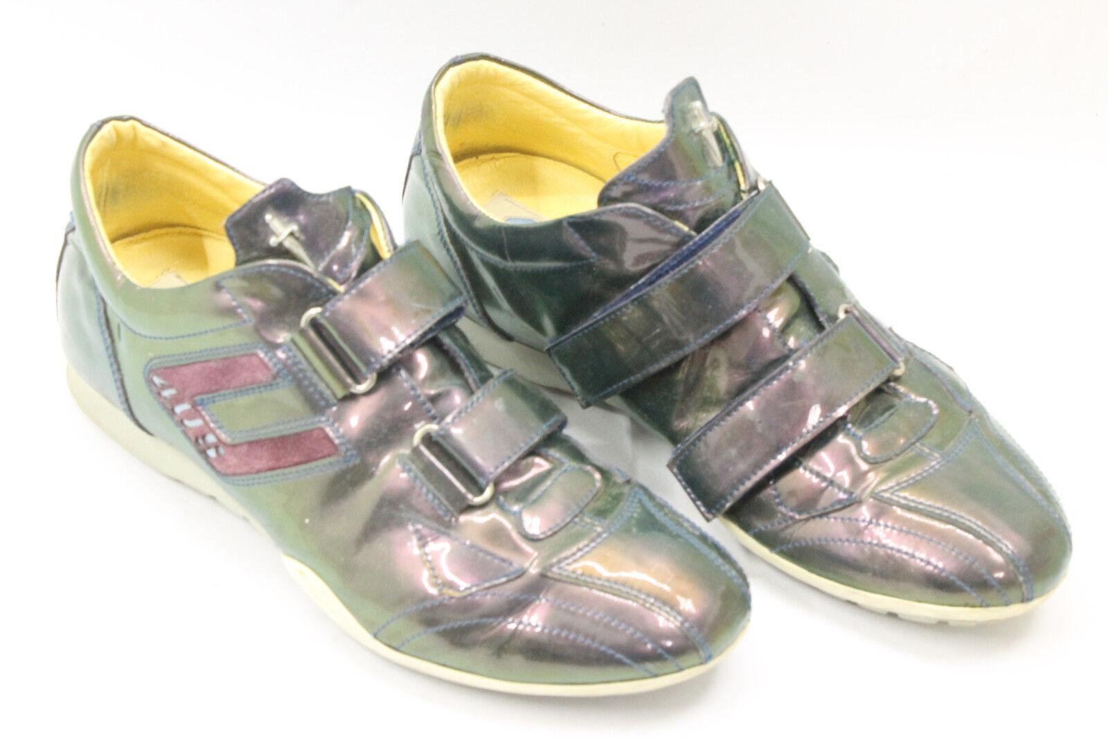 CESARE PACIOTTI women shoes sz 6.5 Europe 37 green leather S7179