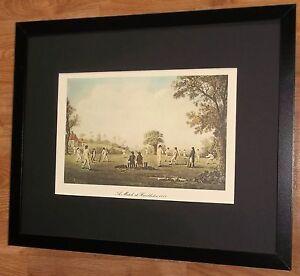 Cricket-framed-print-20-039-039-x16-039-039-Hambledon-Cricket-Match-cricket-wall-art