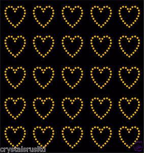 30 Rhinestone Hearts iron-on diamante diy transfer crystal stone bling applique