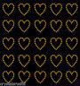 30 Rhinestone Hearts iron-on diamante transfer crystal stone bling motif