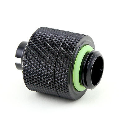 Quality Water Cooling Compression Fitting For 3/8 ID x 1/2 ODTubing Matt Black