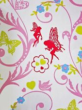 White,Red & Pink Fairies Fairy Multi Coloured Kids Childrens Girls Wallpaper :)