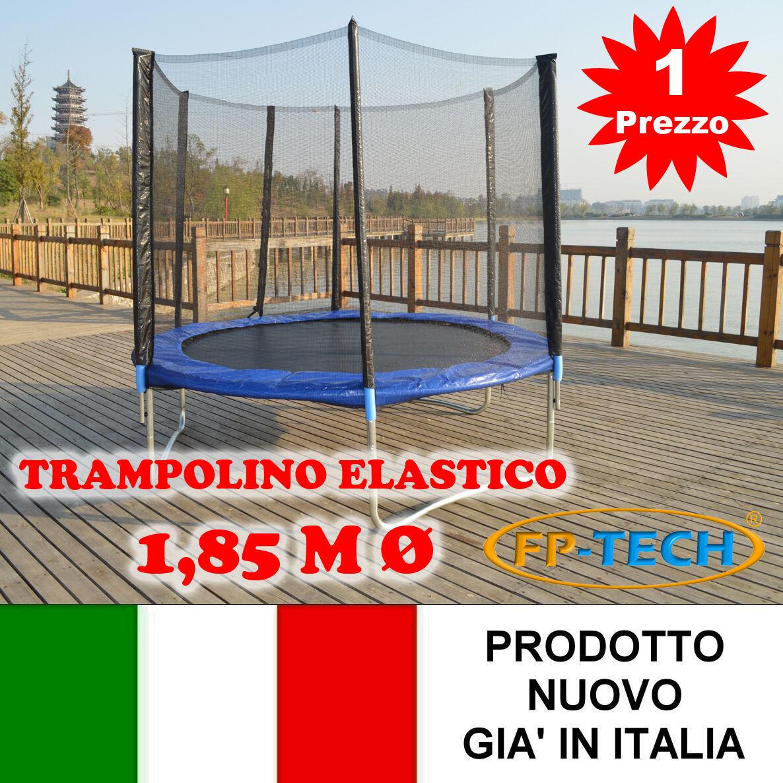 Trampolin Elastisch von Garten 1,85 M Ø 185 Teppich Externe Sport Netzwerk