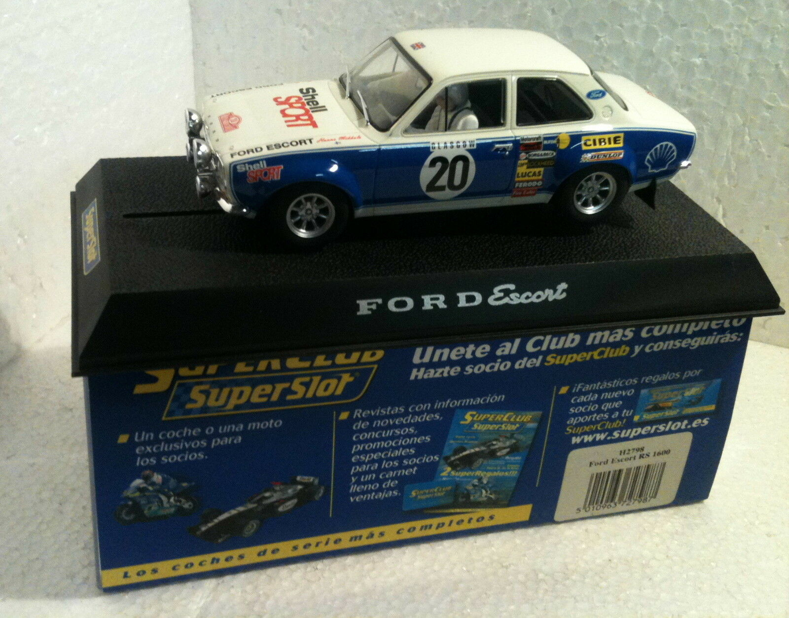 Qq H 2798 SUPERSLOT FORD ESCORT RS 1600 MONTECARLO '73 Scalextric UK