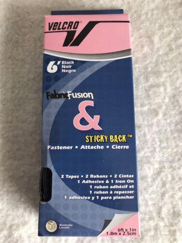 Fabric /& Fusion 6 Ft Black Sticky Back Velcro Fastener
