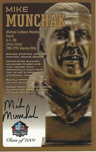 Mike Munchak Houston Oilers Football Hall Of Fame Autographed Bust Card