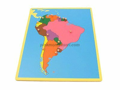 "Montessori Material small board map /""  Small South America Board Map  /"" G043"