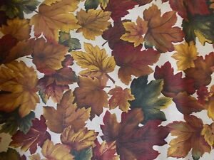 Fall Leaves Fabric, Autumn, Thanksgiving, Quilting, Fat ...