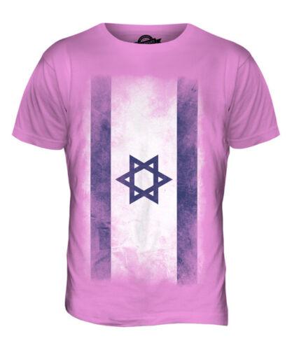ISRAEL FADED FLAG MENS T-SHIRT TEE TOP YISRAEL ISRAELI ISR?/'?L SHIRT FOOTBALL