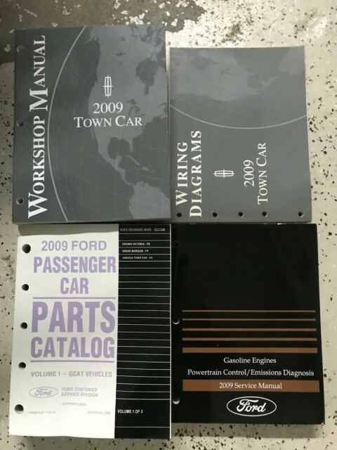 2009 Lincoln Town Car Service Repair Shop Workshop Manual Set W Ewd Pced Parts B