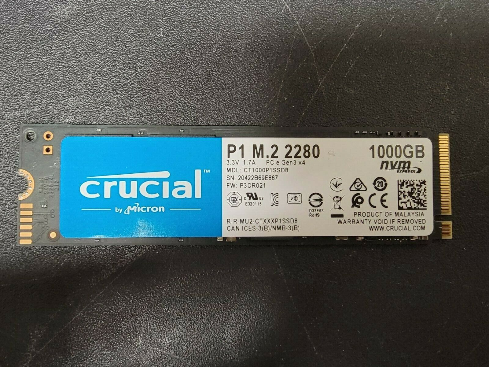 New Crucial - P2 1TB 3D NAND NVMe PCIe M.2 Solid State Drive. Buy it now for 99.99