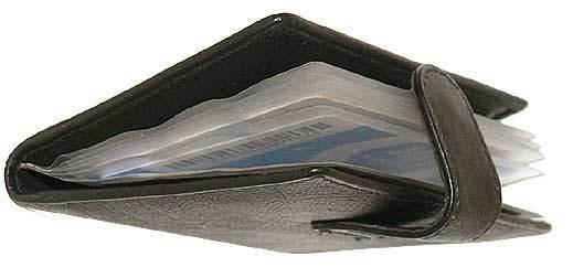 12 cards Leather Soft Black/ Brown Credit Card Holder Wallet