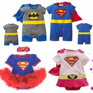 096293028 BOYS GIRLS BABY SUPER HERO ROMPER SUIT FUNKY PARTY OUTFIT FANCY ...