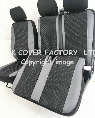 SAME DAY DISPATCH VW TRANSPORTER T5  VAN SEAT COVERS GREY SPORTS TRIM  A50GY