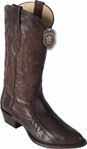2bfdb5514e9 Details about LOS ALTOS MEN R-TOE BROWN GENUINE OSTRICH LEG WESTERN COWBOY  BOOT 600507 D