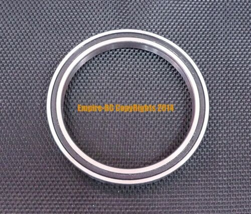 Metal Rubber Sealed Ball Bearing Black 6820-2RS 6820RS 100x125x13 mm 2 PCS