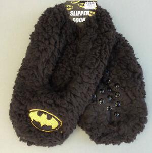Chargement de l image en cours Batman-Femmes -Pantoufles-Polaire-Pantoufles-Ballerine-ABS-Chaussettes- dfb08aa5601
