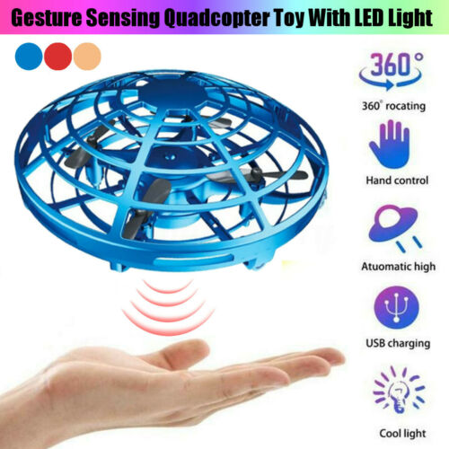 Mini Drone Quad Induction Levitation UFO Hand Operated Helicopter Toys Xmas Gift