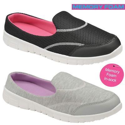 Señoras obtener Fit ir andando Slip On Gimnasio Fitness De Espuma De Memoria Entrenadores Zapatos Talla