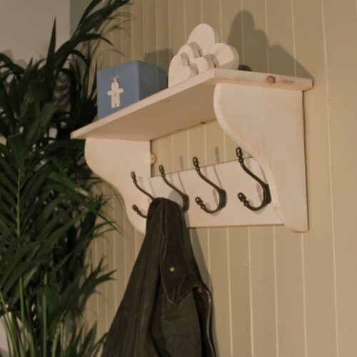 Deep Shelf Hat and Coat Rack in Shabby Chic from THE GOOD SHELF COMPANY