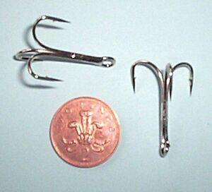 Bag-of-50-2-0-Treble-Hooks-Nickel-for-Big-Lures