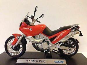Magnificent Model Motorbike Bmw F650 Red Orange 1997 Birthday Cake Topper Funny Birthday Cards Online Alyptdamsfinfo