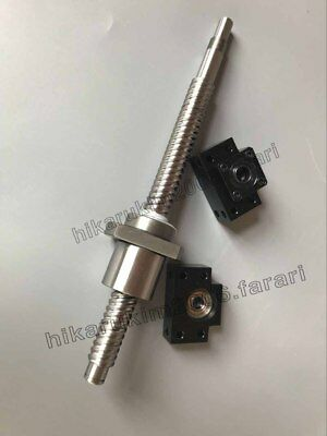 anti backlash 25mm ballscrew RM2505-1400mm-C7+1 set BK//BF20 end support bearing