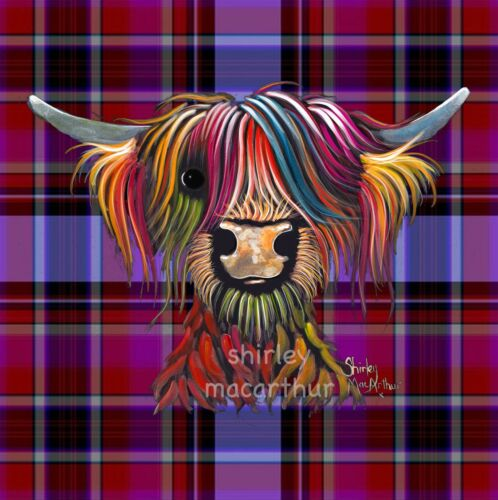HIGHLAND COW PRINTS SCOTTISH from Painting TaRTaN OLiVeR P SHiRLeY MacARTHuR