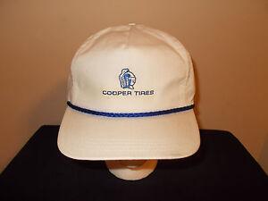 Hüte & Mützen Herzhaft Vtg-1980s Cooper Tires Seil Leder Stil Strapback Hut Herren-accessoires