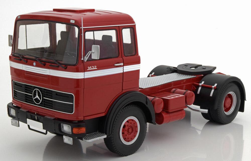 Route Rois 1969 Mercedes Lps 1632 Rouge Blanc 1 18 Echelle Nouvelle Version  le