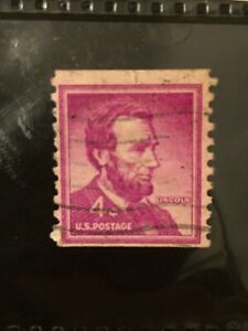 RARE-US-Abraham-Lincoln-4-Cent-Stamp-1965