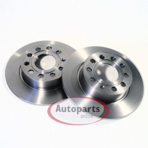 Bremsscheiben 4 Loch Bremsklötze 2 Stück Spritzbleche für hinten* Opel Meriva