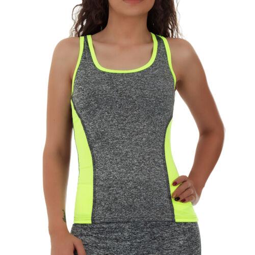 MALUCAS SPORTS Damen Shirt Sport Tanktop Racerback Fitness Yoga Top Stretch Gym